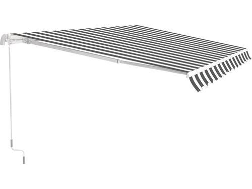 store banne en aluminium ombra 3 - 4 x 2.50 m - gris / blanc