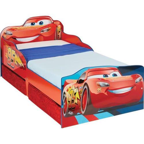 Lit Design Flash McQueen avec tiroirs de rangement