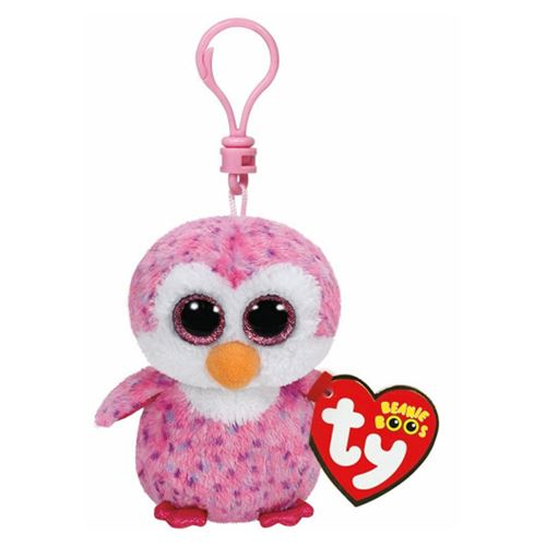 Ty Beanie Boo Glider Clip Penguin Cuddle Pink