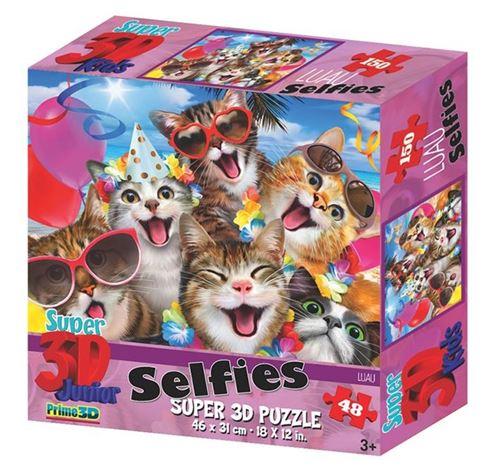 Prime 3D puzzle chat selfie 48 pièces