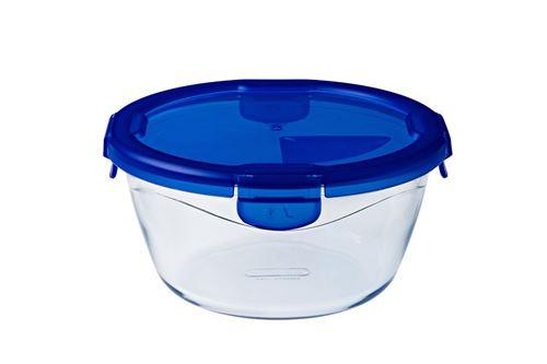 Boite de conservation Pyrex® ronde 20 cm en verre avec couvercle étanche, Cook & Go