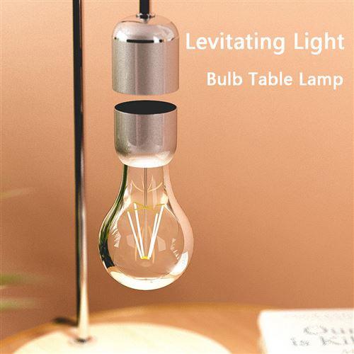 Lampe de bureau table ampoule lévitation anti-gravité magnétique - argent