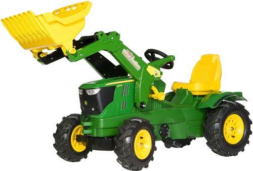 Rolly Toys tracteur escaliers RollyFarmtrac John Deere 6210R LB vert