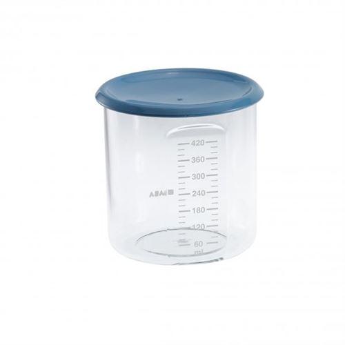 Pot de conservation maxi + portion 420 ml bleu - beaba