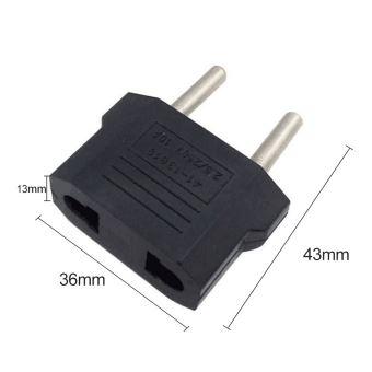 Adaptateur Adapteur Chargeur secteur prise AU//US /à EU europe AC socket FR Noir