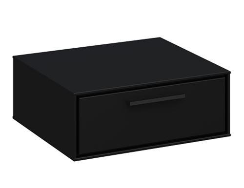 Table de chevet en MDF coloris café noir - 15.1 x 40 x 37 cm -PEGANE-