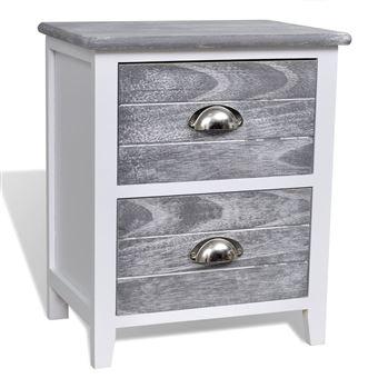 pour téléphone meubles chevet 2 2 tables de gris à tiroirs blanc 2DH9IYbeWE