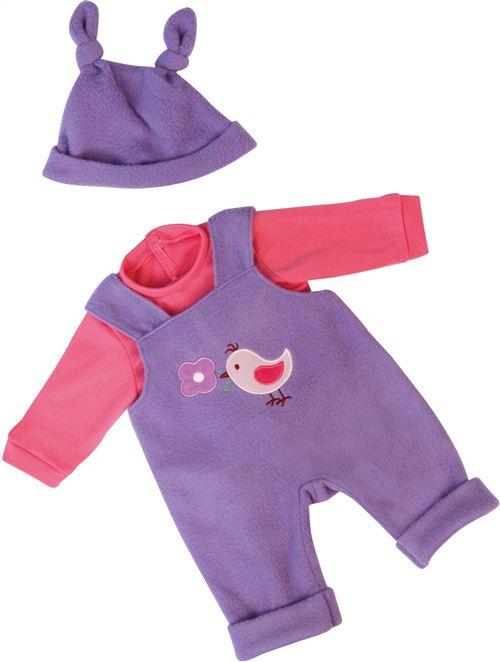 Bayer vêtements mis 38 cm trois pièces violet / rose