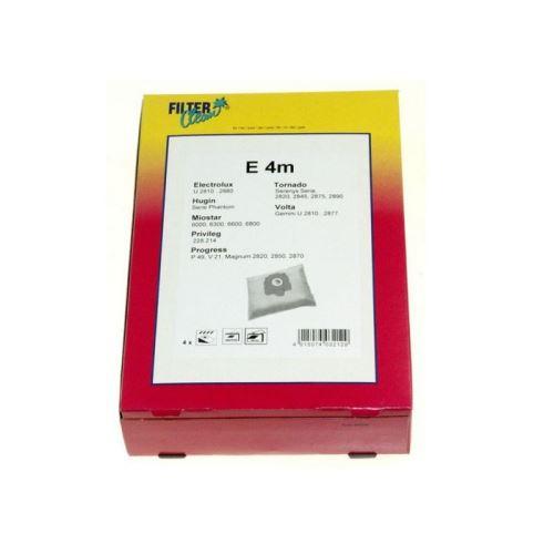 Sacs e4m (x4) microfibre pour aspirateur tornado - d626100