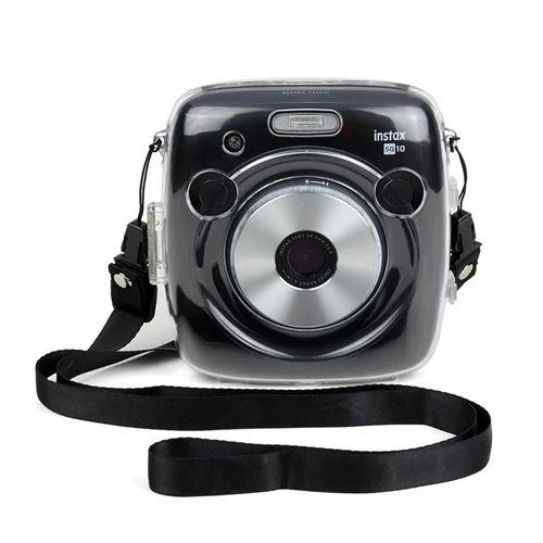 Étui de protection antichoc transparent avec Bandoulière pour Fujifilm Instax Square SQ10