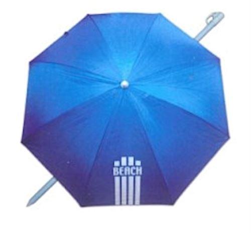 Pincho parapluie de plage 180 cm polyester bleu résistant aux UV
