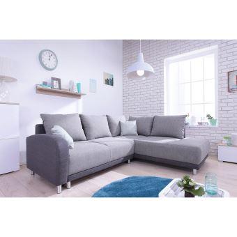 le divino panoramique grand angle droit canap d 39 angle convertible gris clair gris anthracite. Black Bedroom Furniture Sets. Home Design Ideas