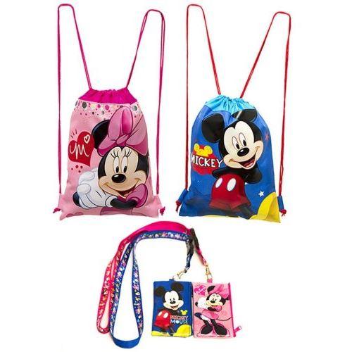 (4ct) Mickey Minnie Mouse Cordon Sac à dos et longes porte-id