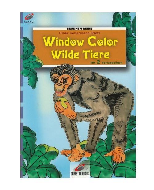 Livre motif window color - animaux - singe - modele peinture fenetre (langue allemand)