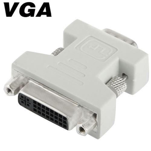 (#29) DVI-I 24 + 5 Pin Female to VGA 15 Pin Male Converter Adapter