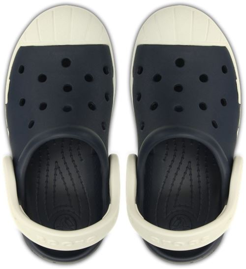 Crocs bump it clog enfants clogs <strong>chaussures</strong> sandales en bleu marine oyster blanc 202282 43w