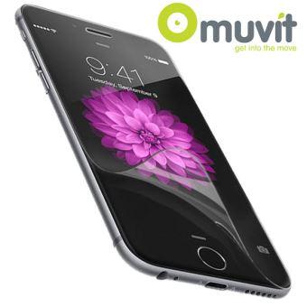 Lot de 2 protections d'écran Muvit Anti-traces de doigts pour iPhone 6 Brillante/Mate