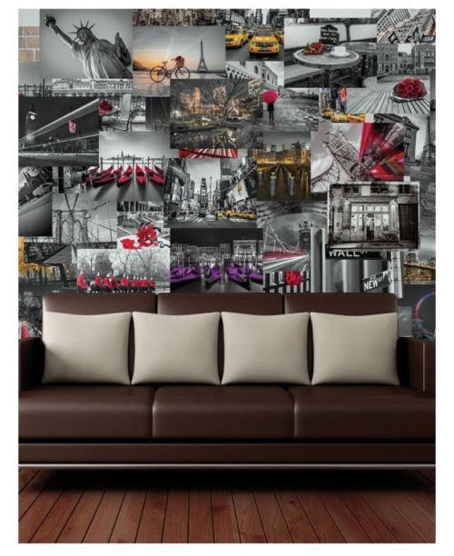 Collage créatif City Scapes Designer Photo murale