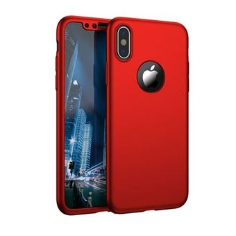 coque iphone x rouge 360