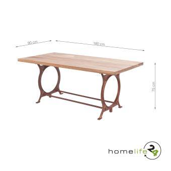 Tres Belle Table Noble Et Moderne En Bois D Acacia Et Metal Pour La