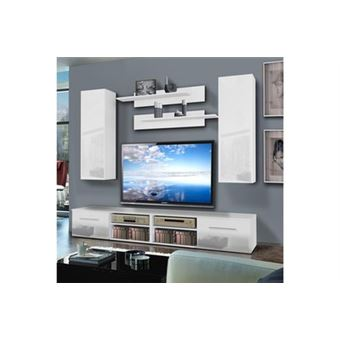 Meuble Tv Mural Invento I Twin 240cm Blanc