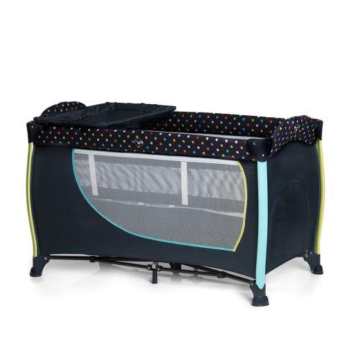 Lit Parapluie Sleep and Play Center II - Multi Dots Navy