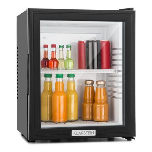 Klarstein HEA-MKS-12 - Réfrigérateur / minibar avec porte transparente et chassis compact (0db, 24 litres, classe E)