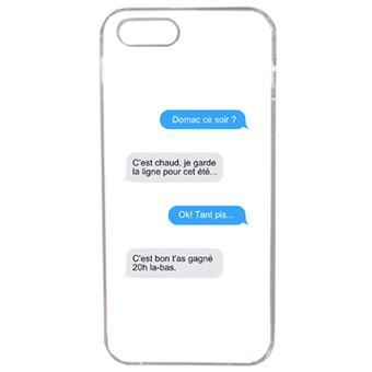 Coque Domac Ce Soir Meages Compatible Iphone Se Transparent