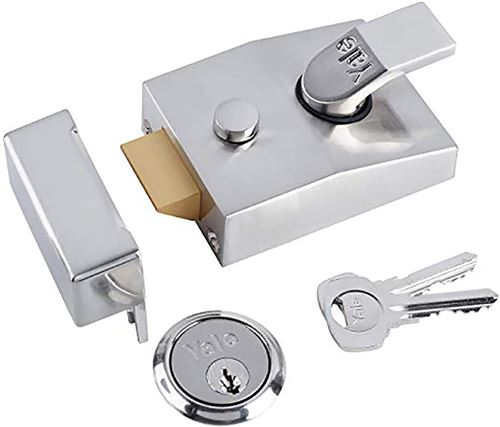 Yale Locks P89 Verrou de sûreté Visi/Backset Chrome 60 mm (Import Grande Bretagne)