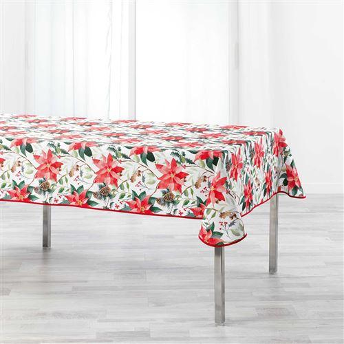 Nappe rectangle 150 x 240 cm polyester imprime la rosiere Blanc