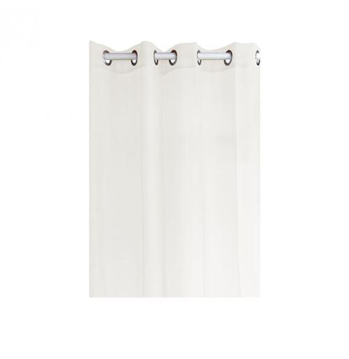 Voilage à oeillets - 135 x 240 cm - Blanc