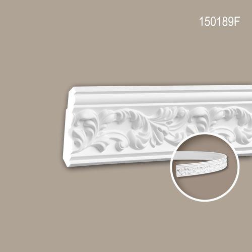 Corniche 150189F Profhome Moulure décorative flexible style Rococo-Baroque blanc 2 m