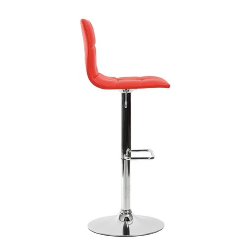 Rouge Chaise Haute Réglable Bar Simili Tabouret xeCWrBdo