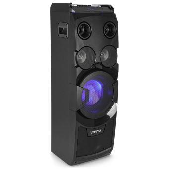 120 sur vonyx play1000 enceinte sono portable avec usb bluetooth entr es aux guitare. Black Bedroom Furniture Sets. Home Design Ideas