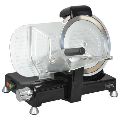 Trancheuse Pro 140w 12,1kg Corps Fonte Alu Lame 25,5cm Inox Protection Kitchenchef - Kcptr250n