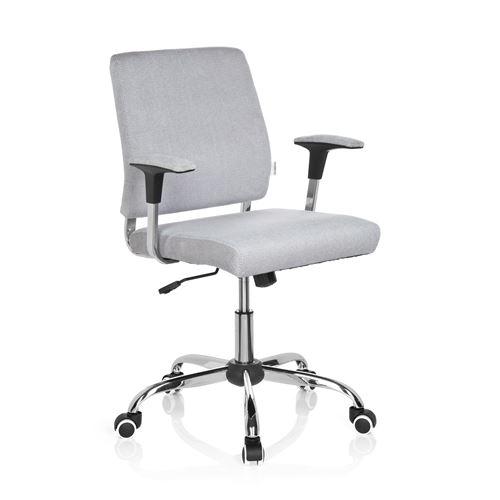 Siège de bureau siège tournant CHARLES tissu gris clair
