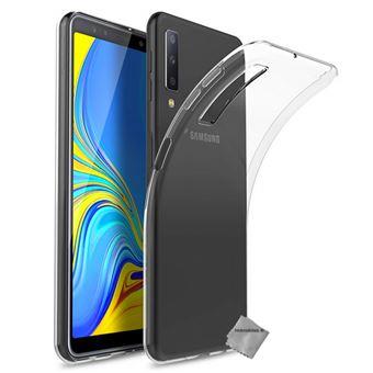 Housse etui coque silicone gel fine pour Samsung Galaxy A7 (2018) avec film  ecran TRANSPARENT TPU - Etui pour téléphone mobile - Achat   prix   fnac 18b4407a41e9