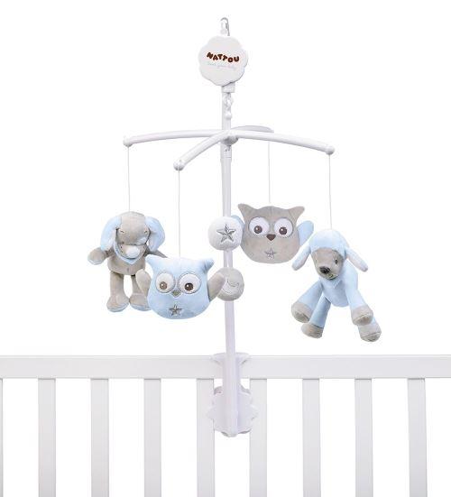 Nattou Mobile Musical pour Bébé Garçon - Sam et Toby
