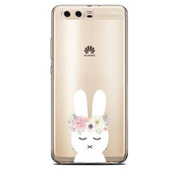 Coque Huawei Y6 2018 lapin fleur rabbit cute kawaii transparente