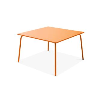 Table de jardin carrée en métal, Palavas - Orange - Mobilier ...