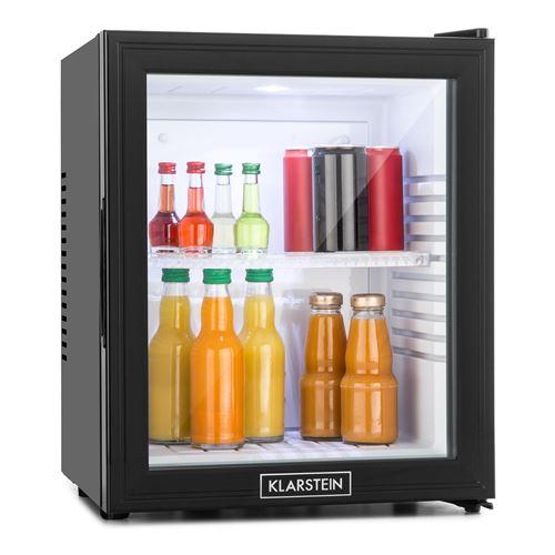 Klarstein MKS-13 Minibar compact 32 litres avec porte vitrée , réfrigérateur à boissons silencieux (0dB) – Classe F
