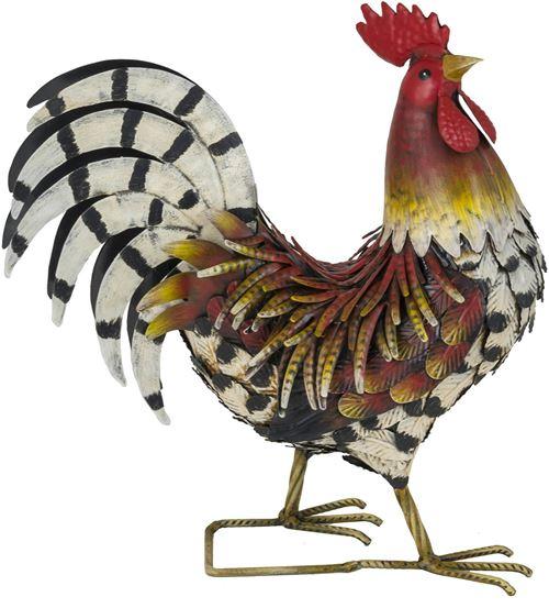 Fountasia - Coq décoratif en métal