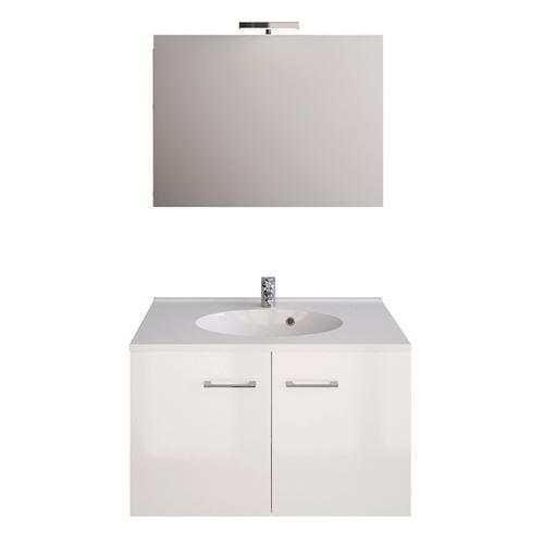 Ensemble de meubles Smart Pack - L. 80 cm - Blanc brillant