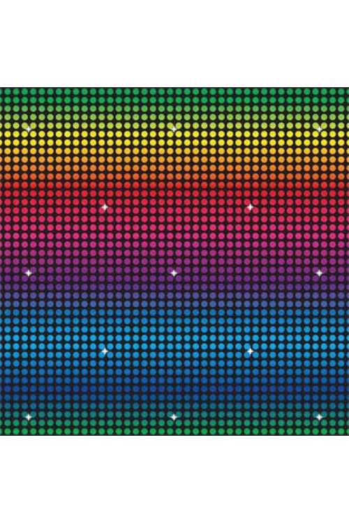 Decor Fond Disco 9m X1.2m - Multicolores