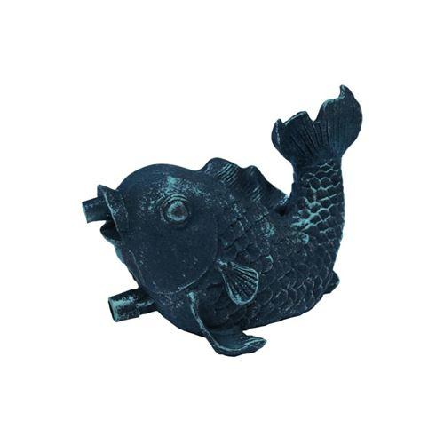 Figurine de bassin gargouille Petit Poisson en polyrésine