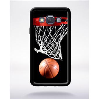 Coque Basket Ball Compatible Samsung A3 2015 Bord Noir Silicone