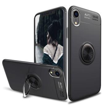 Alpexe Coque pour iPhone 11 XR avec Anneau Support TPU iPhone 11 XR Noir