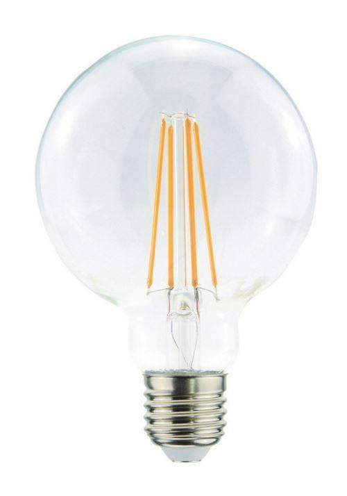 HOMEMANIA Ampoule Globo Transparent en Verre, 9,5 x 9,5 x 13,8 cm, 1 x E27, 4W, 420LM, 2200K, 240V