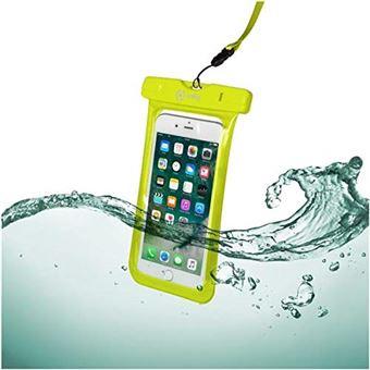 Celly splashbag18yl 6.2 Housse de Protection Jaune Housse pour téléphones Portables – Housses pour téléphone Mobile (Étui de Protection, Universal, iPhone 7/7 Plus, 15,8 cm (6.2), Jaune)