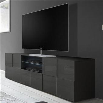7201 Sur Nouvomeuble Grand Meuble Tv Design Gris Laqué Design